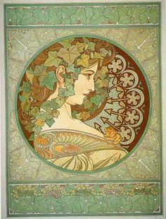 Mucha. Laurel. 1901.