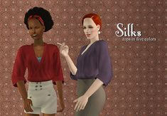 Sims 2 Download: Something almost useless; OFB ninja outfit turned gorgeous silk top