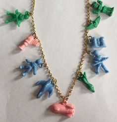 Vintage Celluloid Cracker Jack Charm Necklace Outer Space Astronauts Ships Robot | eBay