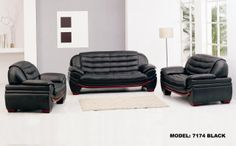Stylish Design Furniture - 7174 - Contemporary Black Leather Sofa, $1,492.50 (http://www.stylishdesignfurniture.com/products/7174-contemporary-black-leather-sofa.html)