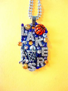 LA Lakers Dog Tag Pendant Number 884 by BradosBling on Etsy, $39.99