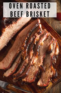 Beef Brisket Oven Roasted Beef Brisket is tender, flavorful and easy to make. I often prepare Beef Brisket when the family comes over for Sunday dinner. Beef Brisket is roasted in the oven and always comes out tender and flavorful. It feeds a crowd! Beef Brisket Oven, Oven Roast Beef, Braised Brisket, Beef Brisket Recipes, Roast Brisket, Brisket In The Oven, Pork Recipes, Texas Brisket Recipe Oven, Cooking Brisket In Oven