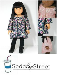 "The Swing Dress 18"" Doll Clothes"
