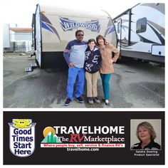 Congratulations to Larry, Tricia & Darcy on the purchase of their Wildwood 252RLXL #traveltrailer from Sandra! #Travel #wildwoodrv #Travelhome #vacation #RVing #camping