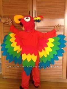 Coolest Child Parrot Costume ...This website is the Pinterest of costumes