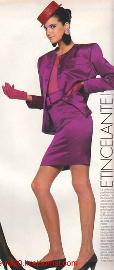 Yves Saint Laurent | Fall 1987 | Stephanie Seymour | Photography by Marc Hispard | For Elle Magazine France | March 1987