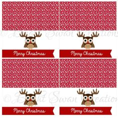 Instant Download - Christmas Treat Bag Topper - print ALL you need - DIY Printable