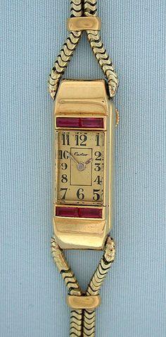 Cartier Art Deco - Bogoff Vintage Wrist Watch # 6448