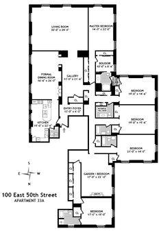 Cole Porter's Waldorf Astoria Apartment Floor Plan