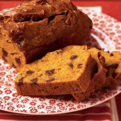 Enjoy this sweet and spicy chocolate chip pumpkin bread for breakfast or as a tasty mid-afternoon treat.