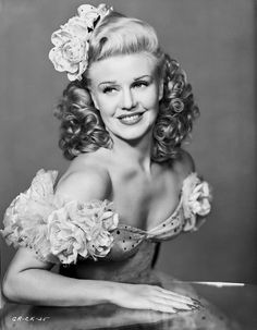Ginger Rogers in White Gown Close Up Portrait Premium Art Print