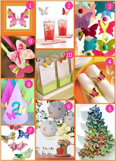 love these ideas for a butterfly party! the felt butterfly garland is ao cute!
