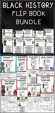 Save Money With This Black History Flip Book Bundle! This Black History Resource Provides Engaging Activities About Famous African Americans! #teach