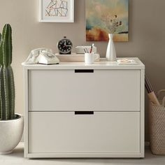 Our Modular Filing Cabinet is a stylish way to stay organized at home or in the office.