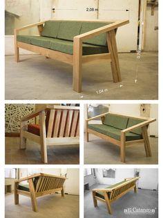 Cute Furniture, Family Room Furniture, Wooden Pallet Furniture, Lawn Furniture, Simple Furniture, Diy Outdoor Furniture, Diy Furniture Projects, Lounge Furniture, Outdoor Sofa