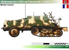 schwere Reihenwerfers auf Fahrgestell S 303(f)