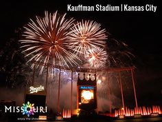 What an awesome view of Kauffman Stadium, home of the Kansas City Royals.