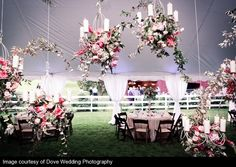 Special Detail, hanging flowers from the ceiling!! Amazing!!