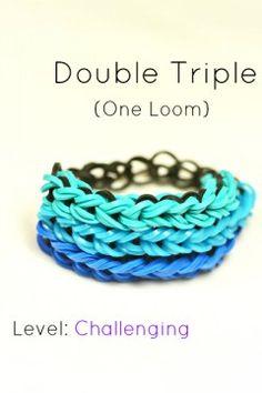 double-triple-loom-bracelt-blue