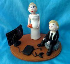 muñequitos de pastel de boda