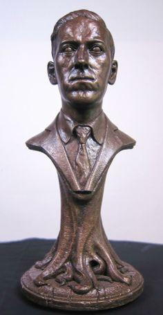 Bust of H. P. Lovecraft by Lee Joyner