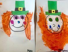 e8b1c9e9d Lucky and Lulu the leprechauns. Saint Patrick's day art. Gluing, hat  assembly,