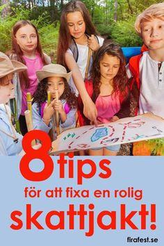 Skattjakt är superkul till barnkalas! Här finns några saker att tänka på om när du ska fixa en rolig skattjakt.   #skattjakt #barnkalas #kalas #festlekar #barnkalaslekar Mer på firafest.se/barnkalas