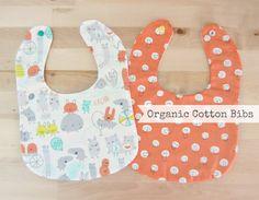 Organic Cotton Baby Bibs Set of Two Little by Melimebabybeeshop, $25.00