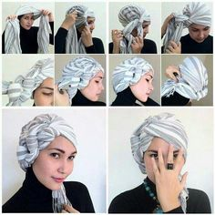 Because sometimes you just need to wear a turban. Turban-tastic for protective styling. Turban Hijab, Turban Mode, Head Turban, Turban Tutorial, Hijab Tutorial, Head Wrap Tutorial, Bad Hair, Hair Day, Hair Wrap Scarf