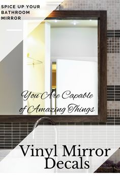Motivate Yourself With These Beautiful Inspirational Mirror Decals Will Add