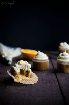 These Pumpkin Spiced Cupcakes with Orange Curd are a seasonal treat for the entire family! Pumpkin spiced buttercream rounds them out for a creamy finish.