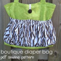 Boutique Diaper Bag - pdf sewing pattern - large tote bag also great for travel - by Aivilo Charlotte Design