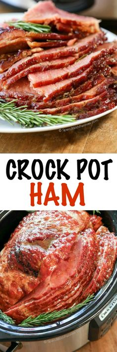 This easy Crock Pot Ham is the perfect holiday ham recipe! It takes just 5 minutes of prep and the slow cooker does all of the work (leaving precious oven space for your sides). The result is a tender and juicy crock pot ham that your family will absolutely love!