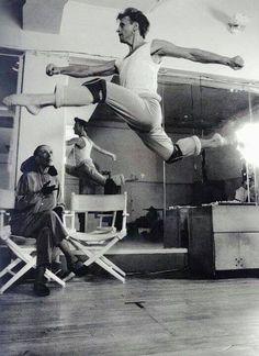 Mikhail Baryshnikov -rehearsal with Martha Graham