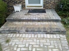 Paver Protector also extended this step out about a foot to give more area for visitors to step down. | www.paverprotector.com #paverprotector