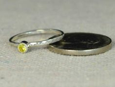 Classic Sterling Silver Topaz Ring 3mm Silver by Alaridesign