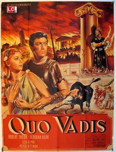 COLECCIÓN DE CARTELES ANTIGUOS DE CINE- Quo Vadis 1951, con Robert Taylor, Deborah Kerr, Peter Ustinov, Leo Genn,