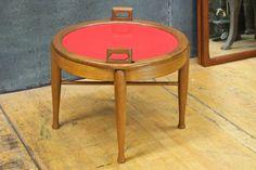 Vintage BJ Hansen Fliptop Ottoman Table Mid-Century Norwegian Modernist Mad Men Eames Danish Era