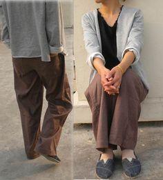 021Women's Loose Fitting Twotone WideLeg Linen Pants by EDOA