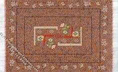 Dollhouse Scale Model Rectangular Orange-Brown Rug & Runner