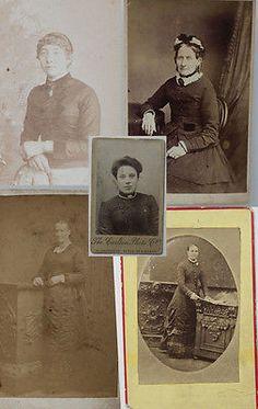 Five Original Carte de Visites CDVs Antique Photograph Mid 19th Centur – Sarah Elizabeth Gallery