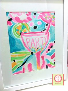 Watercolor art inspired by Lilly Pulitzer