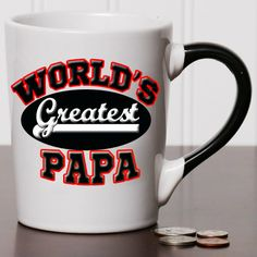 20 oz. World's Greatest Papa Stoneware Coffee Mug