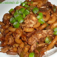 We will never tire of a good macaroni chinese chicken. Chinese Chicken, Chinese Food, Pasta Recipes, Chicken Recipes, Kung Pao Chicken, Buffet, Easy Meals, Food And Drink, Beef