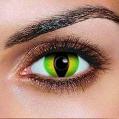 green devil contact lenses pair