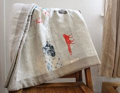 lap thow or baby quilt by lineacarta on Etsy, $145.00