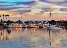 The anchorage in Newport Harbor, Newport Beach, CA