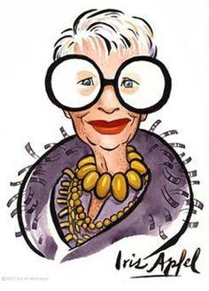 Rare Bird Of Faschion = Iris Apfel Alphonse Mucha, Iris Fashion, Rare Birds, Advanced Style, Ageless Beauty, Art Deco, When I Grow Up, Style Icons, Artsy
