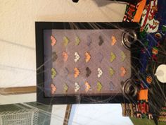 Bat specimen shadow box - easy with a bat craft punch and Halloween paper.