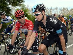 GIRO DITALIA STAGE SEVEN GALLERY Sir Bradley Wiggins and points leader Mark Cavendish chatted as the stage got under way
